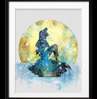 Watercolour Inspired Part Of Your World Print - Cobalt Heights