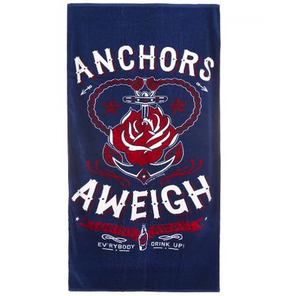 Sourpuss Anchors Aweigh Beach Towel - Cobalt Heights