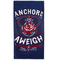 Sourpuss Anchors Aweigh Beach Towel - Cobalt Heights