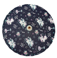 Sourpuss Tipsy Elephants Parasol - Cobalt Heights