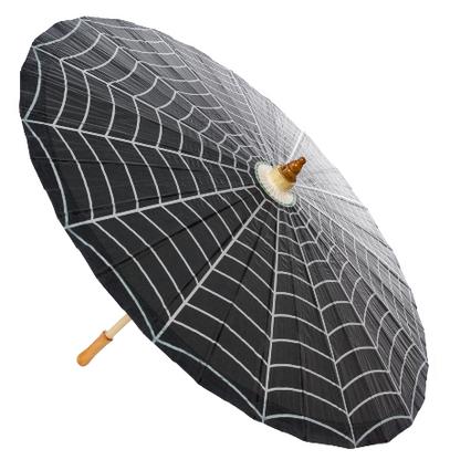 Sourpuss Spiderweb Parasol - Cobalt Heights