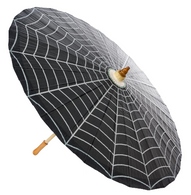 Sourpuss Spiderweb Parasol - Cobalt Heights