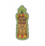 Sourpuss Tiki Totem Lapel Pin - Cobalt Heights