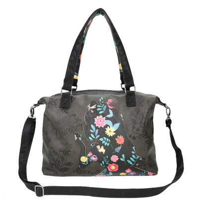Loungefly X Disney Alice Floral Silhouette Handbag - Cobalt Heights