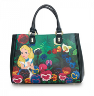 Loungefly X Disney Alice In Wonderland Garden Handbag - Cobalt Heights