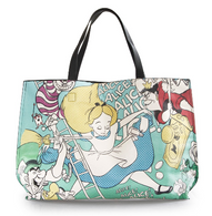 Loungefly X Disney Alice Queen Of Hearts Tote Handbag - Cobalt Heights