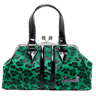 Sourpuss Leopard Temptress Purse - Green - Cobalt Heights