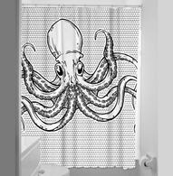 Sourpuss Octopus Shower Curtain - Cobalt Heights
