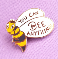 Jubly Umph You Can Bee Anything Lapel Pin - Cobalt Heights