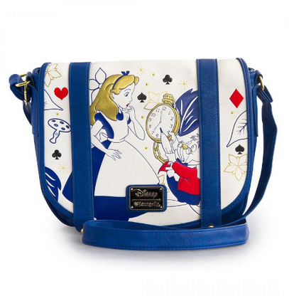 Loungefly X Disney Alice In Wonderland Clock Purse Crossbody Handbag - Cobalt Heights