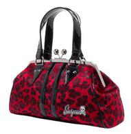Sourpuss Leopard Temptress Purse - Red - Cobalt Heights
