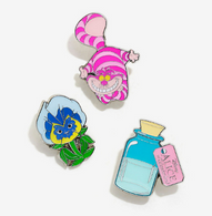 Loungefly X Disney Alice In Wonderland Enamel Pin Set - Cobalt Heights