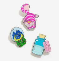 Loungefly X Disney Alice In Wonderland Enamel Pin Set - Cobalt Heights