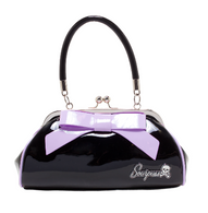 Sourpuss Floozy Purse - Black and Lilac - Cobalt Heights