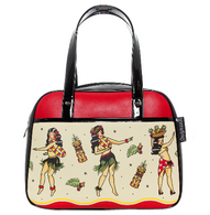 Sourpuss Hula Gals Bowler - Cobalt Heights