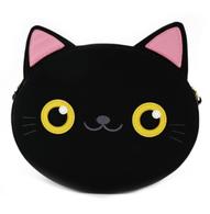 Loungefly Black Cat Face Cross Body Bag - Cobalt Heights