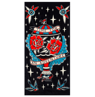 Sourpuss Adventure Beach Towel - Cobalt Heights
