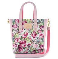 Loungefly X Disney Floral Belle Mini Tote Handbag - Cobalt Heights