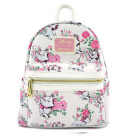 Loungefly X Disney Marie Floral Mini Backpack - Cobalt Heights