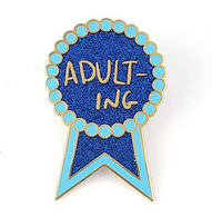 Jubly Umph Adult-ing Lapel Pin - Cobalt Heights