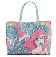 Loungefly X Disney Ariel Pastel Leaves Tote Handbag - Cobalt Heights