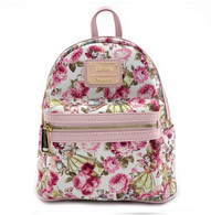 Loungefly X Disney Belle Floral Mini Backpack - Cobalt Heights