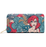 Loungefly X Disney Ariel Pastel Leaves Wallet - Cobalt Heights