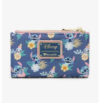 Loungefly X Disney Stich and Scrump Floral Bifold Wallet - Cobalt Heights