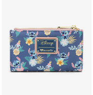 Loungefly X Disney Stich and Scrump Floral Bifold Wallet - Cobalt Heights