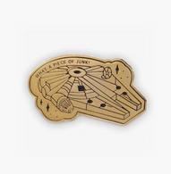 The Sunday Co Gold Millennium Falcon Enamel Pin - Cobalt Heights