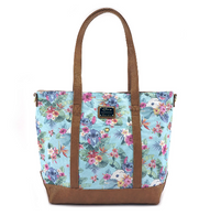 Loungefly X Disney Stitch Tropical Canvas Tote - Cobalt Heights