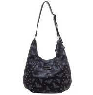 Sourpuss Bat Attack Hobo Purse - Cobalt Heights