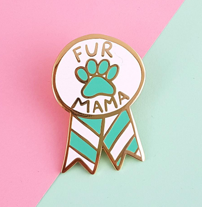 Jubly Umph Fur Mama Lapel Pin - Cobalt Heights