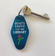 Hungry Designs Beast's Castle Library Keyring - Cobalt Heights