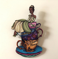 Hungry Designs Teacup Tiana Brooch - Cobalt Heights