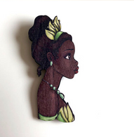 Hungry Designs Tiana Profile Brooch - Cobalt Heights
