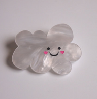 Hungry Designs Happy Raincloud Premium Brooch - Cobalt Heights