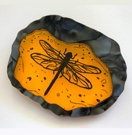 Hungry Designs Outlander Dragonfly In Amber Premium Brooch - Cobalt Heights