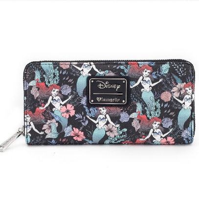 Loungefly X Disney Ariel Floral Wallet - Cobalt Heights
