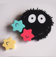 Hungry Designs Soot Sprite 2 Piece Premium Brooch - Cobalt Heights