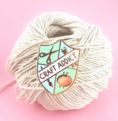 Jubly Umph Craft Addict Lapel Pin - Cobalt Heights