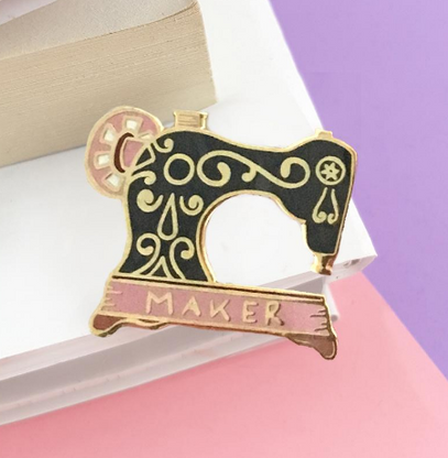 Jubly Umph Maker Sewing Machine Lapel Pin - Cobalt Heights