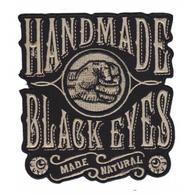 Sourpuss Handmade Black Eyes Iron On Patch - Cobalt Heights