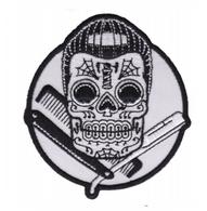 Sourpuss Dapper Skull Iron On Patch - Cobalt Heights