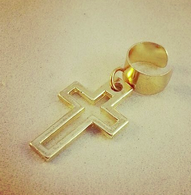 Gold Cross Ear Cuff
