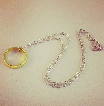 The One Ring Inspired Necklace