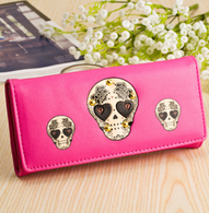 Hot Pink Sugar Skull Wallet