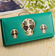 Green Sugar Skull Wallet