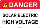 Danger Solar Electric, High Voltage - #53-313 thru 70-313