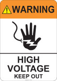 Warning High Voltage Keep Out - #53-701 thru 70-701